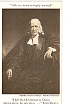 Click here to enlarge image and see more about item p24805: John Wesley Painting by Frank O. Salsibury