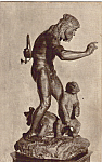 Click here to enlarge image and see more about item p24808: Primitive Man and Bears Paul W Bartlett Postcard p24808