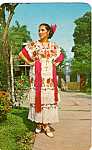 Yucatan Girl in Regional Dress Mexico p24815