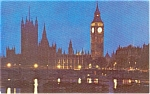Click here to enlarge image and see more about item p2482: London Parliment Pan Am Issued Postcard