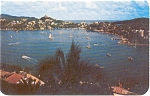 Click here to enlarge image and see more about item p2483: Acapulco Bay Mexico Panorama Postcard