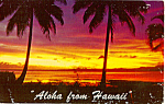 Click here to enlarge image and see more about item p24869: Tropical Sunset, Hawaii
