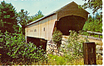 Hemlock Bridge Bridgton Maine Postcard p24892