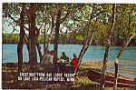 Click here to enlarge image and see more about item p24894: Oak Lodge Resort Lake Lida Pellcan Rapids Minnesota p24894
