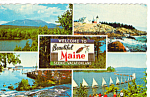 Small Scenic Views of Maine Postcard p24917