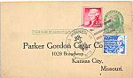 Click here to enlarge image and see more about item p24976: Parker Gordon Cigar Co Order Postcard