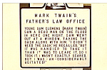 Click here to enlarge image and see more about item p25057: Sign of Mark Twain s Father s Law Office p25057