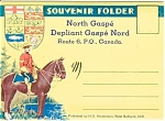 Click here to enlarge image and see more about item p2508: Souvenir Folder North Gaspe PQ Canada p2508