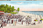 Click here to enlarge image and see more about item p25136: Delightful Bathing Beach in Sunny Florida