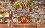Fireplace The Lodge Endless Caverns Virginia Postcard p25171