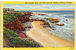 Click here to enlarge image and see more about item p25180: Beach and Cliffs Southern California p25180