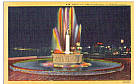 Click here to enlarge image and see more about item p25190: Electric Fountain, Beverly Hills, California