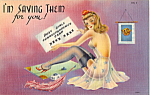 Click here to enlarge image and see more about item p25267: Busy Girls Correspondence Card
