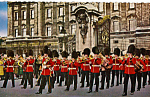 Click here to enlarge image and see more about item p25281: Guards Band Outside of Buckingham Palace London England p25281