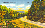 Click here to enlarge image and see more about item p25315: State Highway Pennsylvania Postcard p25315