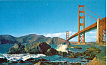Click here to enlarge image and see more about item p25327: Golden Gate Bridge San Francisco  CA Postcard p25327