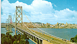 Click here to enlarge image and see more about item p25347: San Francisco Oakland Bay Bridge Postcard p25347