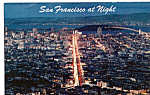 Click here to enlarge image and see more about item p25354: Night View, San Francisco, California