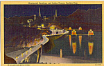 Click here to enlarge image and see more about item p25368: Illuminated Roadway and Intake Towers Boulder Dam p25368
