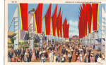 Click here to enlarge image and see more about item p25400: Avenue of Flags Chicago World s Fair Postcard p25400