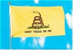 Click here to enlarge image and see more about item p2549: Don t Tread on Me Flag Postcard p2549