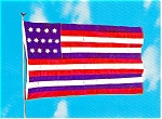 Click here to enlarge image and see more about item p2550: Franklin Flag Postcard p2550