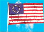 Click here to enlarge image and see more about item p2551: Betsy Ross  Flag Postcard p2551