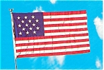 Click here to enlarge image and see more about item p2552: 15 Star Flag Postcard p2552