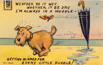 Click here to enlarge image and see more about item p25656: Weather it be Wet, Wether it be dry Postcard p25656