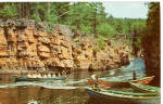 Click here to enlarge image and see more about item p25677: Flat Bottom Boats, Ausable Chasm, New York