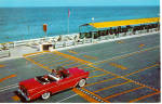 Click here to enlarge image and see more about item p25737: 56 Chevy Convertible at Beach at Lake Worth Florida p25737