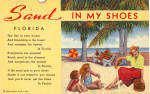 Click here to enlarge image and see more about item p25758: Words to Sand in My Shoes Postcard p25758
