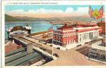 Click here to enlarge image and see more about item p25924: C.P.R. Depot and Pier D, Vancouver, British Columbia