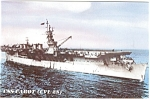 USS Cabot CVL 28 Light Carrier Postcard p2602