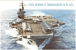 USS John F Kennedy CV 67 Carrier Postcard p2606