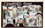 Click here to enlarge image and see more about item p26119: Big Letter Postcard Greetings from Niagara Falls p26119