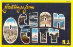 Click here to enlarge image and see more about item p26138: Greetings From, Ocean City New Jersey Big Letter