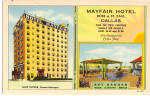 Mayfair Hotel Dallas Texas Postcard p26186