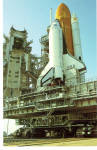 Click here to enlarge image and see more about item p26196: Shuttle Columbia being on Pad #39A