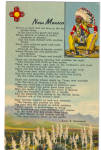 Click here to enlarge image and see more about item p26457: New Mexico Poem by Anna B Stevenson p26457
