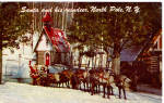 Click here to enlarge image and see more about item p26585: Santa and his Reindeer North Pole New York p26585