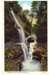 Rainbow Falls Watkins Glen New York Postcard p26593