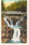 Click here to enlarge image and see more about item p26600: Split Rock Falls, Elizabethtown New York