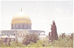 Click here to enlarge image and see more about item p2663: Dome of the Rock Jerusalem Postcard