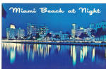 Miami Beach FL at Night Postcard p26641