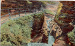 Stillwater Gorge Watkins Glen New York Postcard p26886