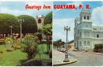Click here to enlarge image and see more about item p26932: Plaza and San Antonio Church Guayama Puerto Rico p26932