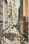 Click here to enlarge image and see more about item p26947: Broad Street Looking North, New York City