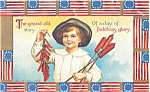Click here to enlarge image and see more about item p2701: July 4th The Grand Old Story  Postcard