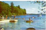 Click here to enlarge image and see more about item p27068: Swimmers in Lake in Summer Time